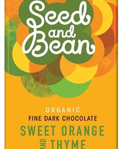 Seed and Bean Sweet Orange and Thyme Chocolate Bar